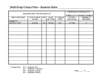 Small Group Census Form